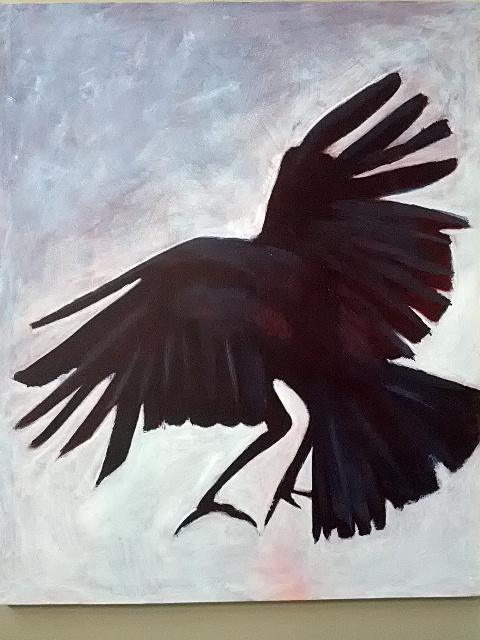 Crow Landing by Terri Heal