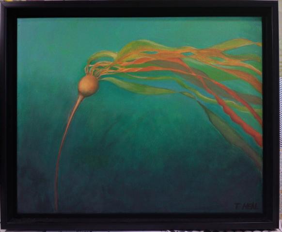 Bull kelp painting, art show