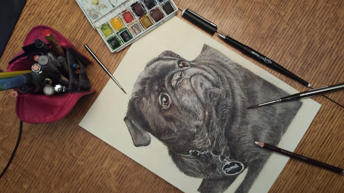 Jamal, the pug dog is finished!