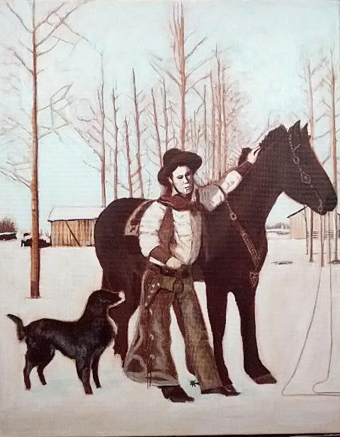 Cowboy Jim, acrylic on canvas