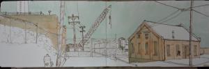 Urban sketching in Rock Bay, Victoria