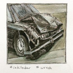Inktober wreck