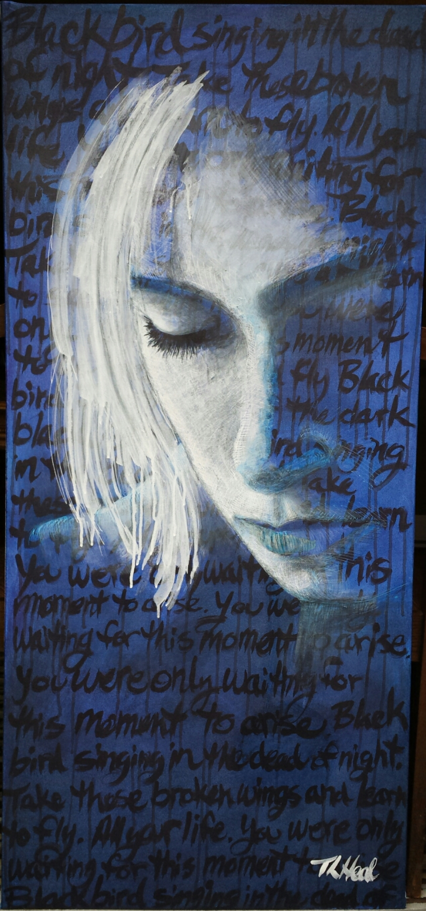 Women and words mixed media experiments